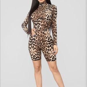 Fashion Nova leopard romper